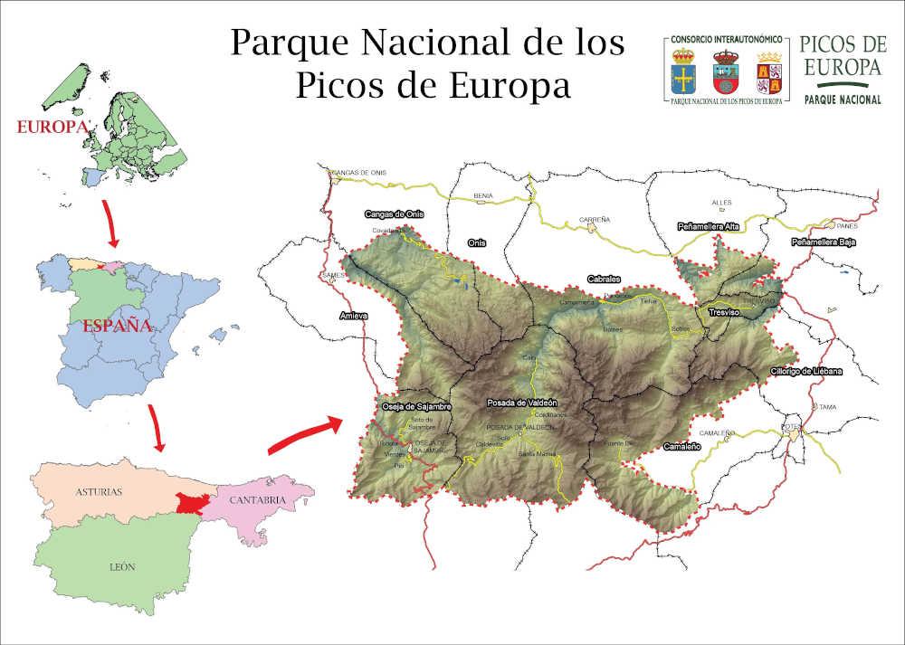 Mapa Picos de Europa